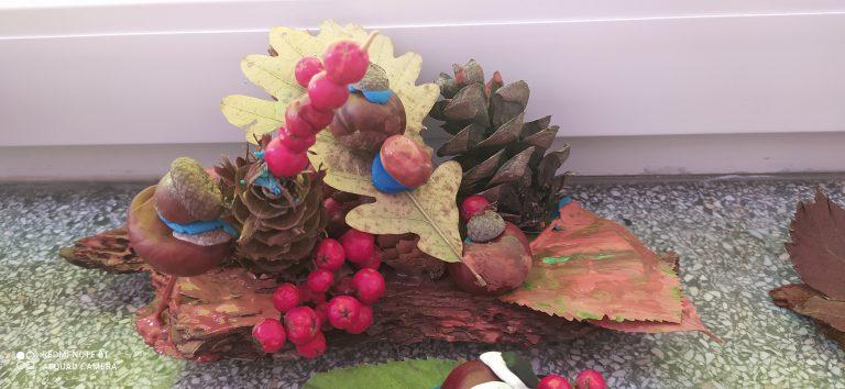 zdjęcie pracy plastycznej o jesieni