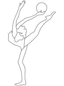 baletnica z piłką